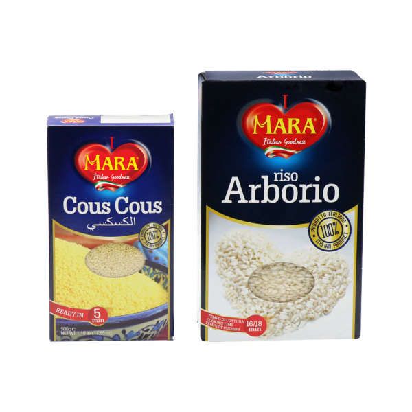Arborio Rice and Cous Cous
